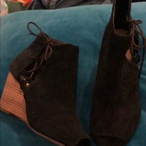 Sole Society lace-up booties
